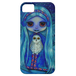 Snowy Owl Fairy in Winter iPhone 5 Covers