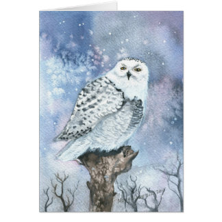 Snowy Owl Fine Art Greeting Card