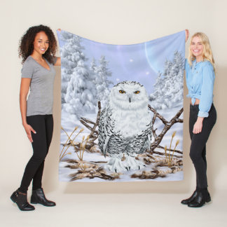 Snowy Owl Fleece Blanket