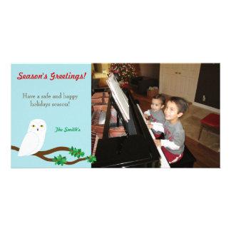 Snowy Owl Holiday Christmas Photo Card