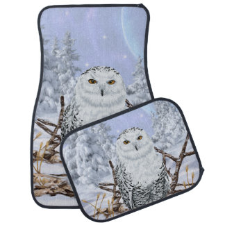 Snowy Owl in Snow Car Liners