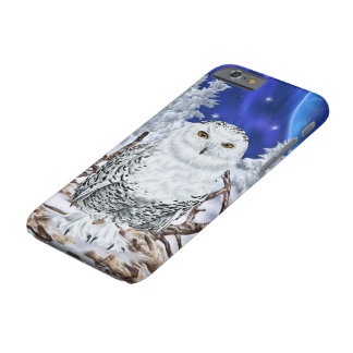 Snowy Owl in Snow Dark Blue Sky Barely There iPhone 6 Case