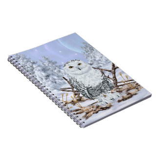 Snowy Owl in Snow Notebook