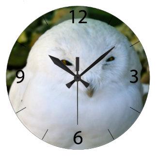 Snowy Owl Large Clock