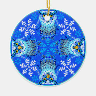 Snowy Owl Nature Mandala Ornament