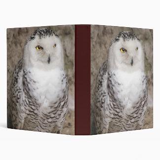 Snowy Owl Notebook Binder