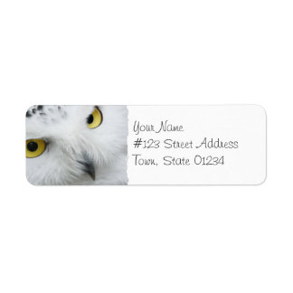 Snowy Owl Photo Mailing Labels