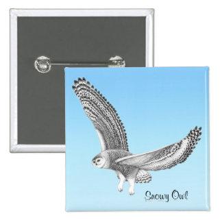 Snowy Owl Pin