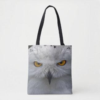 Snowy Owl Portrait All Over Print Bag