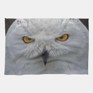 Snowy Owl Portrait Kitchen Towel