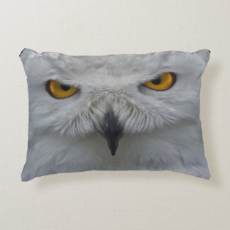 Snowy Owl Portrait Pillow