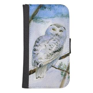 snowy owl samsung s4 wallet case