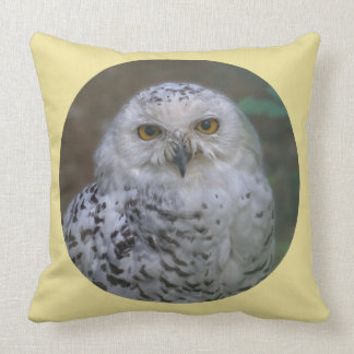 Snowy Owl, Schnee-Eule 02_rd Throw Pillow