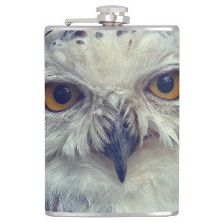 Snowy Owl, snow owl Hip Flask