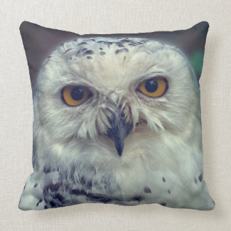 Snowy Owl, snow owl Throw Pillow