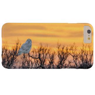 Snowy Owl Sunset Phone Case