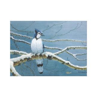 Snowy Perch Canvas Print