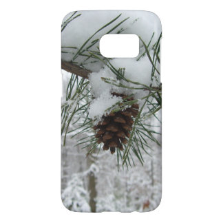 Snowy Pine Branch Winter Nature Photography Samsung Galaxy S7 Case