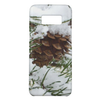 Snowy Pine Cone I Winter Nature Photography Case-Mate Samsung Galaxy S8 Case