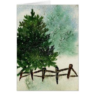 Snowy Pine Tree Card