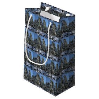 Snowy Pine Trees Christmas Gift Bag