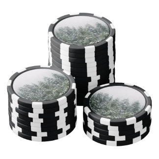 Snowy Pine trees Poker Chips