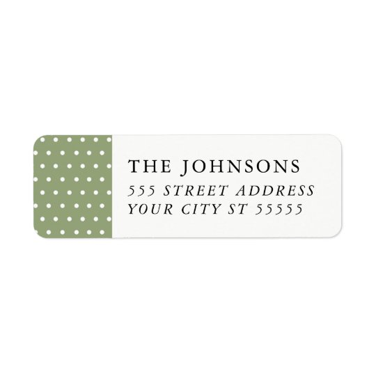 Snowy Pines Return Address Label