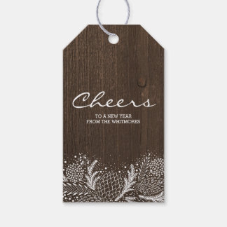 Snowy Pines Rustic Winter Holiday Pack Of Gift Tags