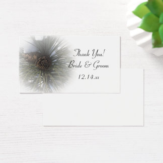 Snowy Pines Winter Wedding Favor Tags