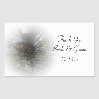 Snowy Pines Winter Wedding Thank You Favor Tags