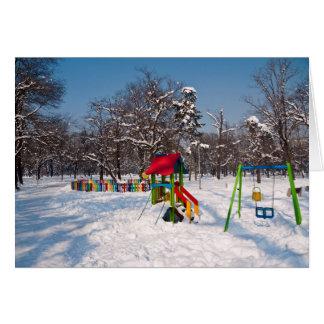 Snowy Playground Card