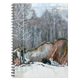 Snowy ravine notebook
