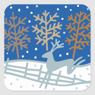Snowy Reindeer Christmas Holiday Stickers