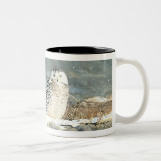 Snowy Respite Two-Tone Coffee Mug