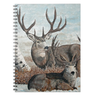 Snowy ridge bucks spiral notebook