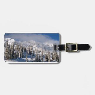 snowy ridge luggage tag