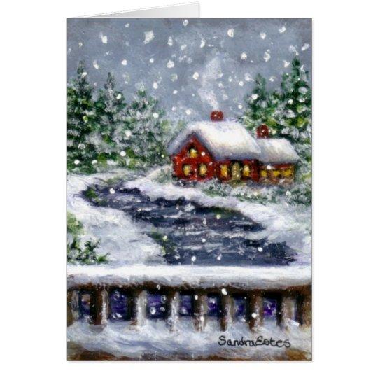 Snowy River Winter Landscape Art Note Card