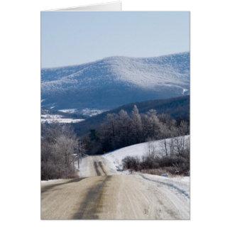 Snowy roads card