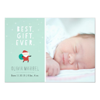 Snowy Santa Card