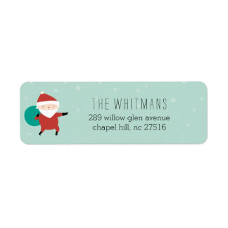 Snowy Santa Return Address Label