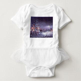 Snowy scene baby bodysuit