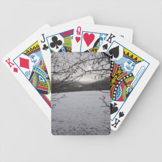 Snowy Scene Bicycle Playing Cards