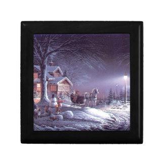 Snowy scene gift box