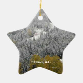 Snowy Scene in Whistler, B.C. Ceramic Ornament