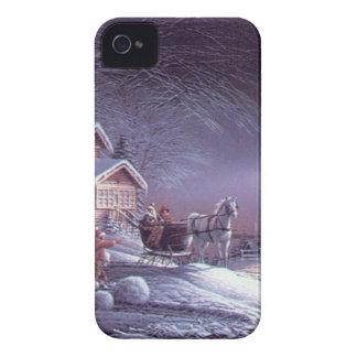 Snowy scene iPhone 4 case