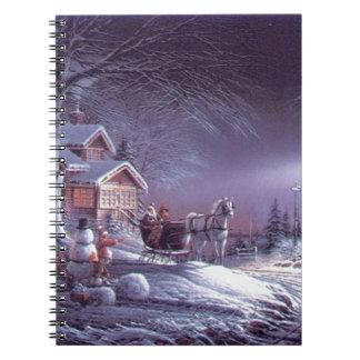 Snowy scene notebook
