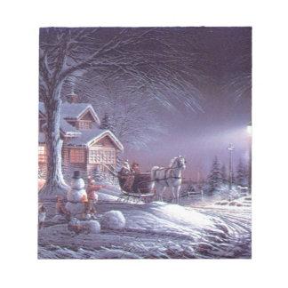 Snowy scene notepad