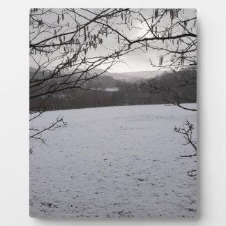 Snowy Scene Plaque