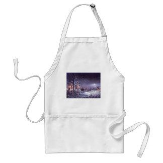 Snowy scene standard apron