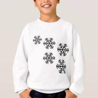 snowy snowflakes sweatshirt